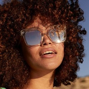 Clear oversized sunglasses
